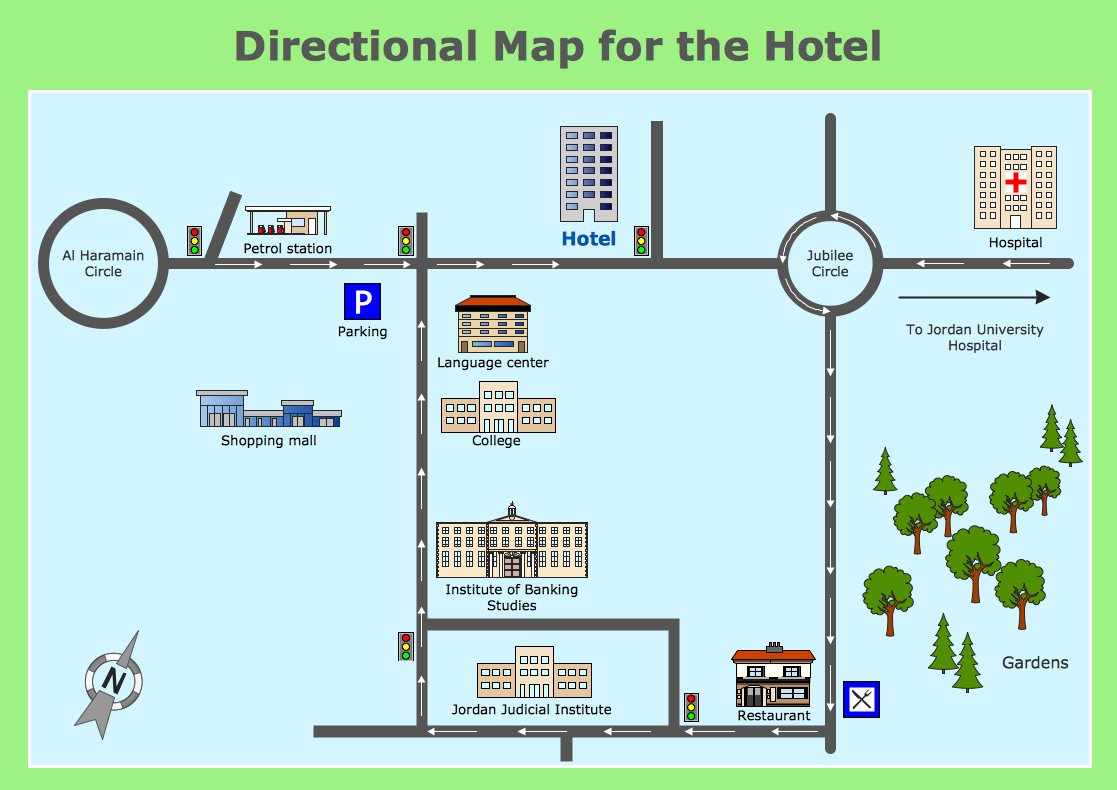 MAPS Directional Map for the Hotel