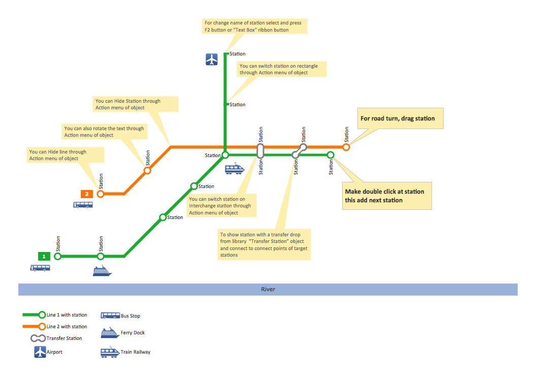 Project Management Subway Map.Conceptdraw Samples Geo Maps