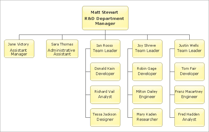 Example Organic Organization Chart Example