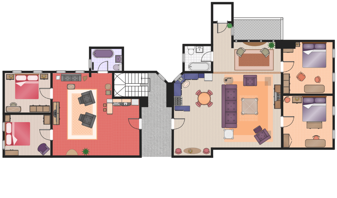 This Example Is Created Using Conceptdraw Pro Diagramming Software Enhanced With Floor Plans Solution From Conceptdraw Solution Park