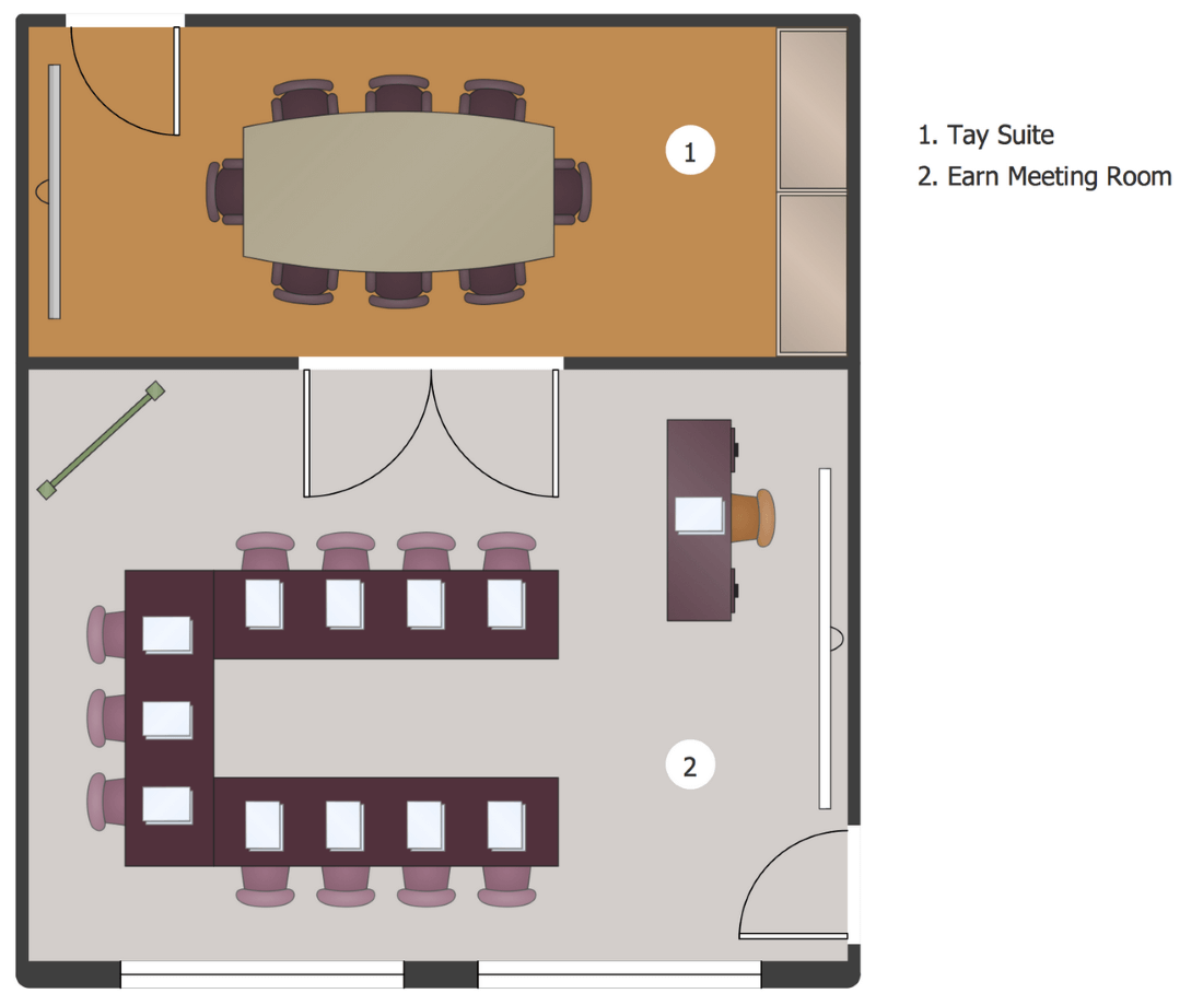 ConceptDraw Samples | Building plans - School and training plans