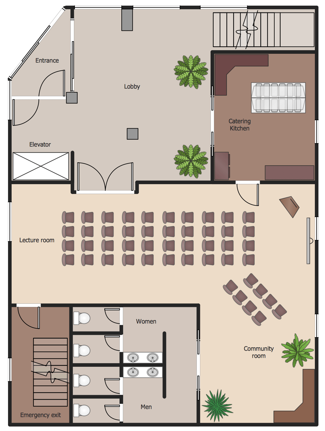 sample 10 training rooms layout - Sample House Plans