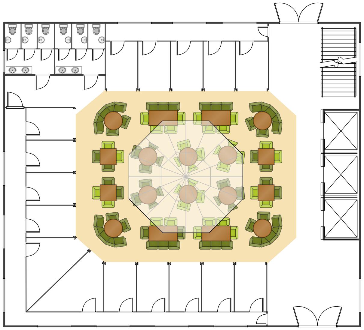 conceptdraw samples building plans floor plans floor plan wave city center wave mega city centre