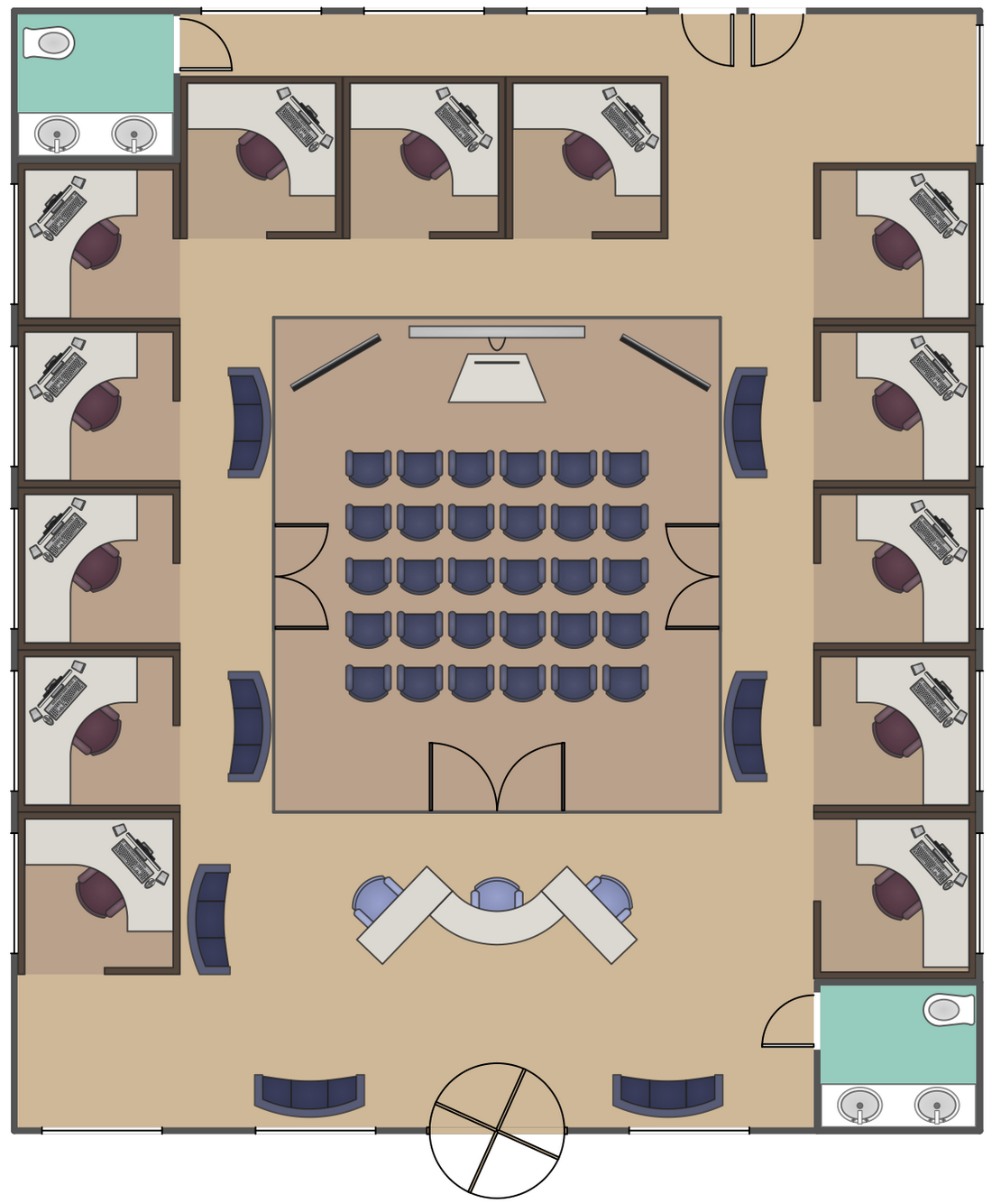 conceptdraw samples building plans office layout