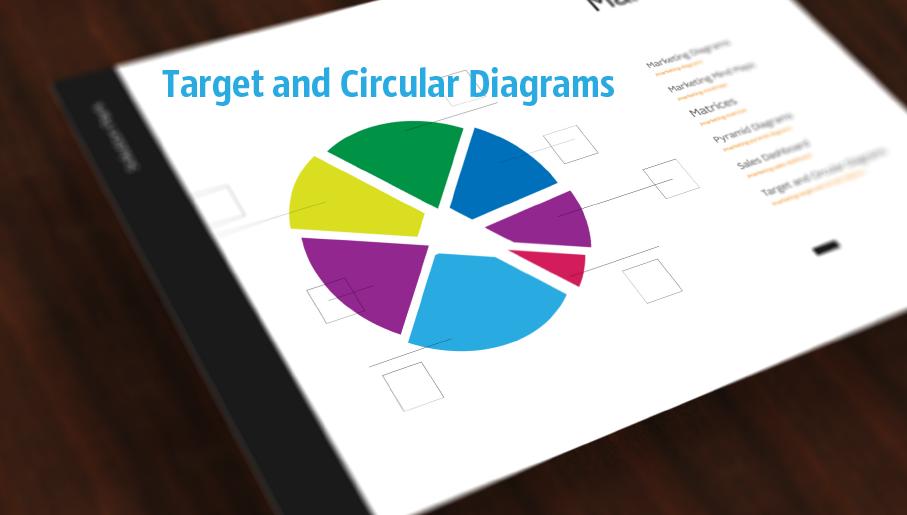 target diagram, circular diagram, circle diagram