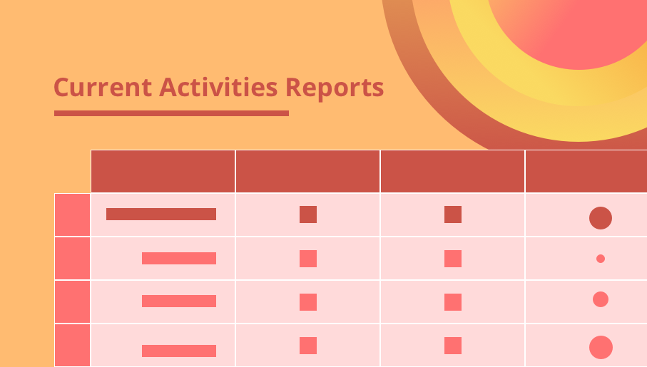 project management, planning, project, management, report, current activities reports