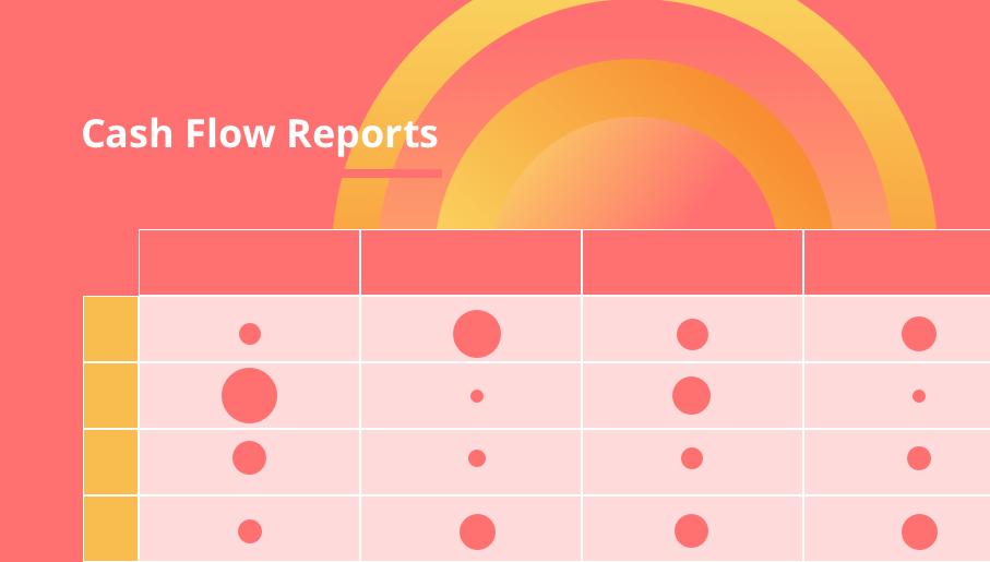 cash flow reports, cash flow, management, project management, planning, reporting