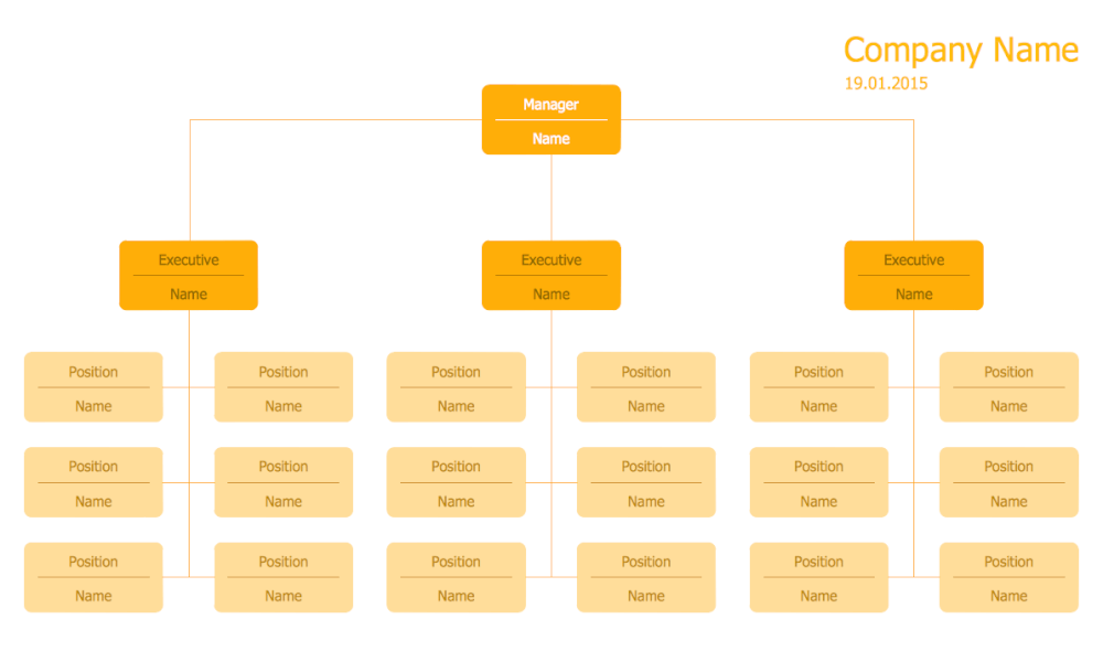 Hierarchical Org Chart Template 11
