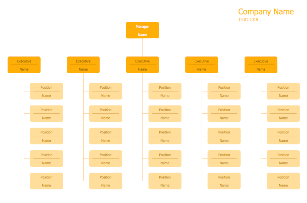 Hierarchical Org Chart Template 12