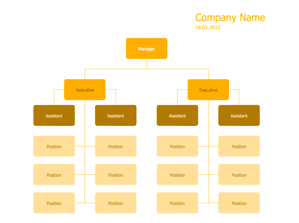 Hierarchical Org Chart Template 13