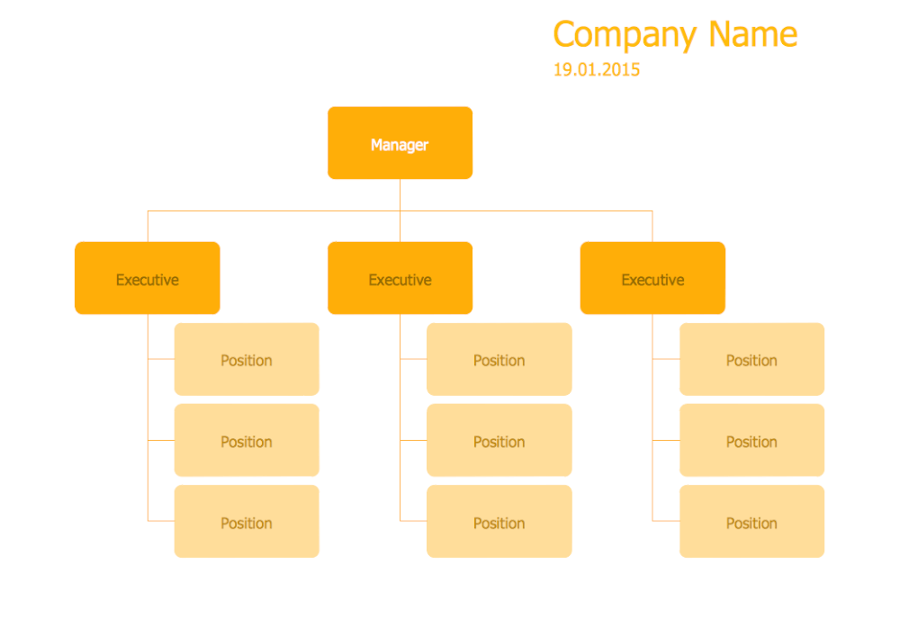 Hierarchical Org Chart Template 15