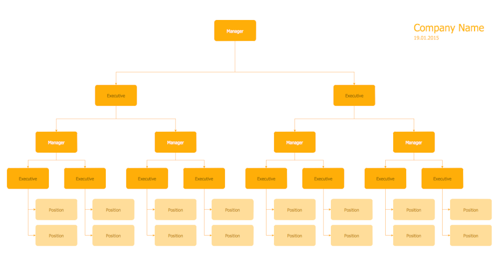 Hierarchical Org Chart Template 6