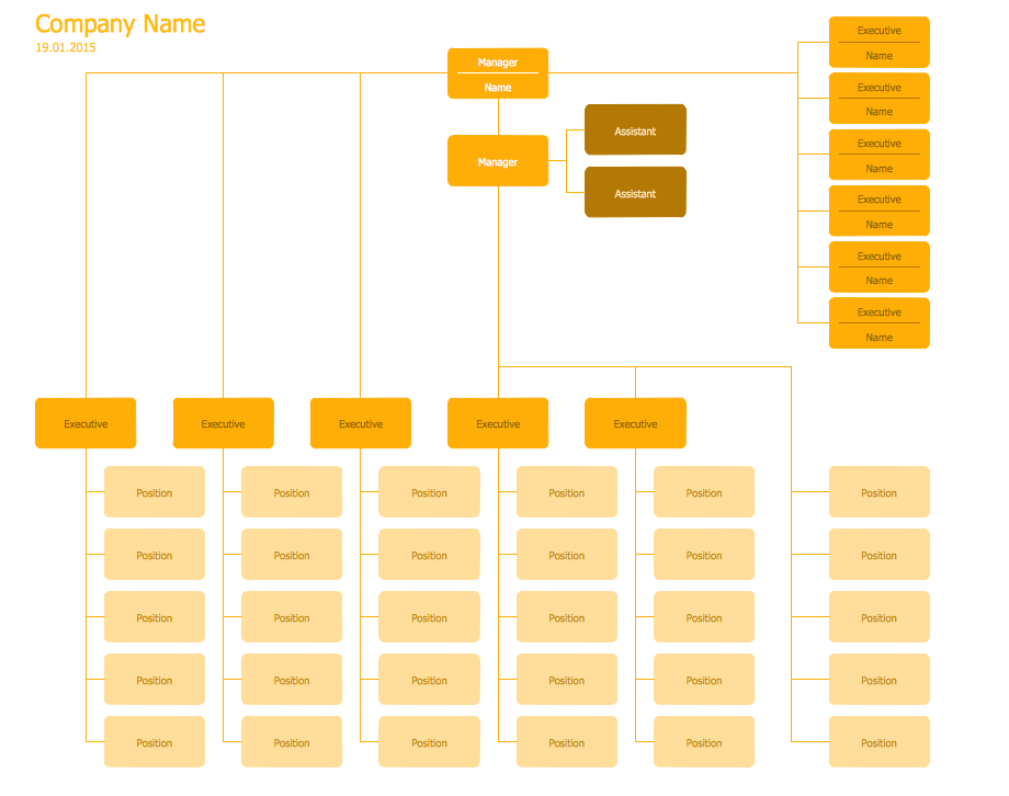 Hierarchical Org Chart Template 7