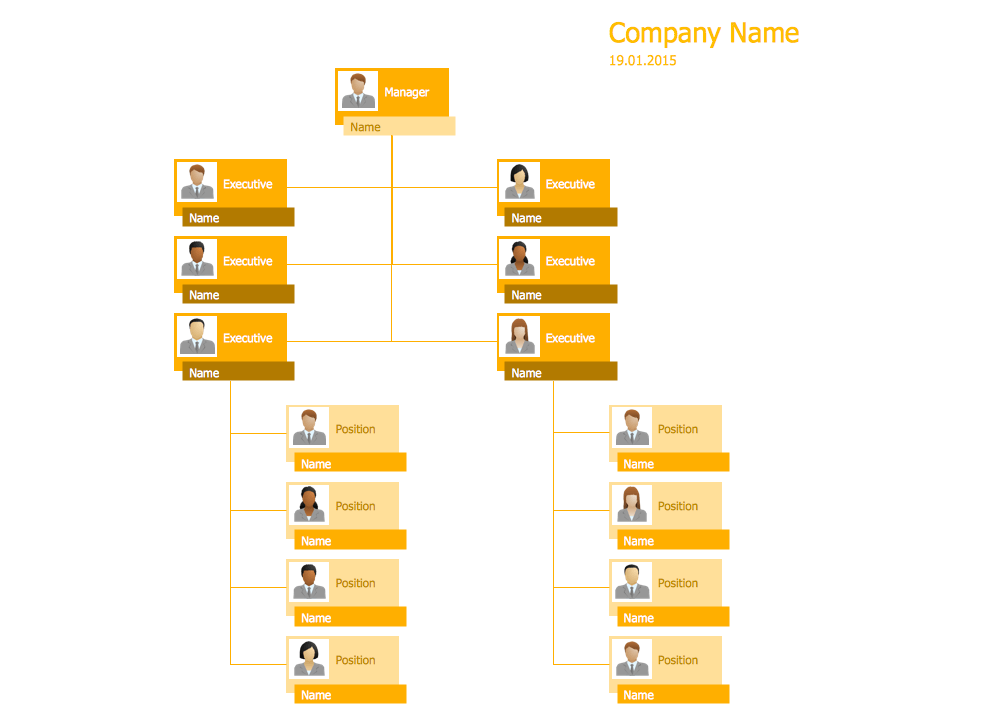 Hierarchical Org Chart Template 9