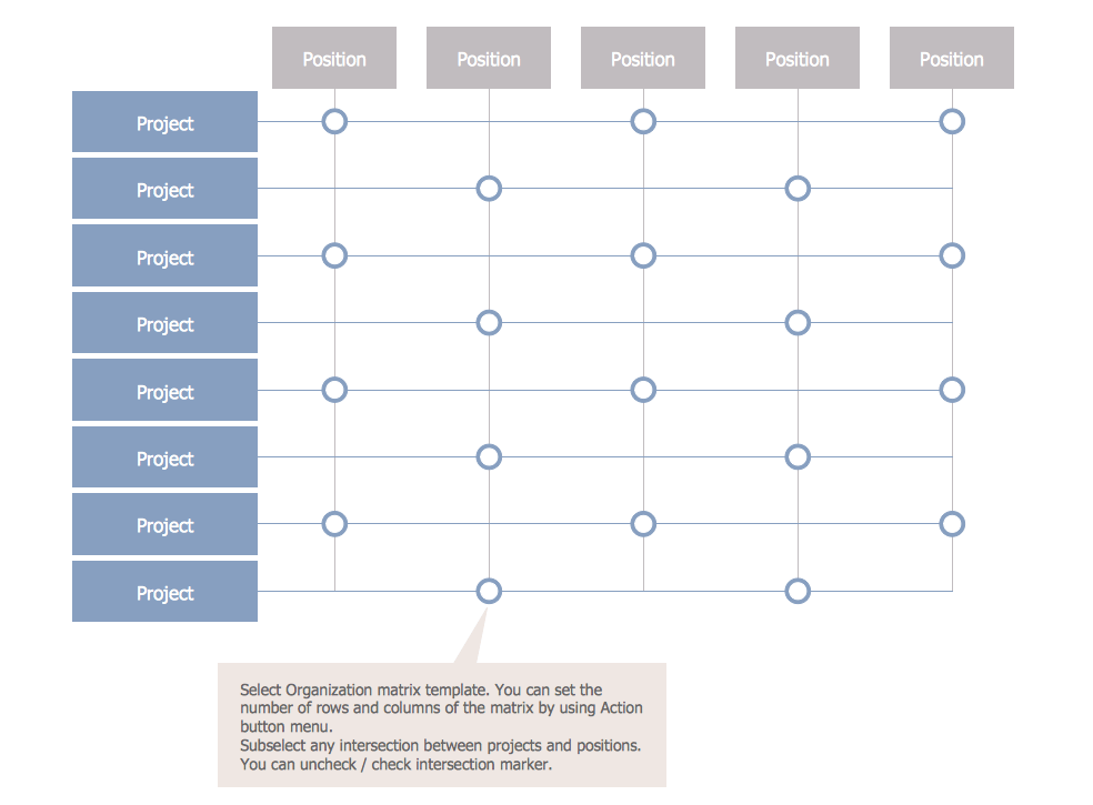 Matrix Org Chart Template 3