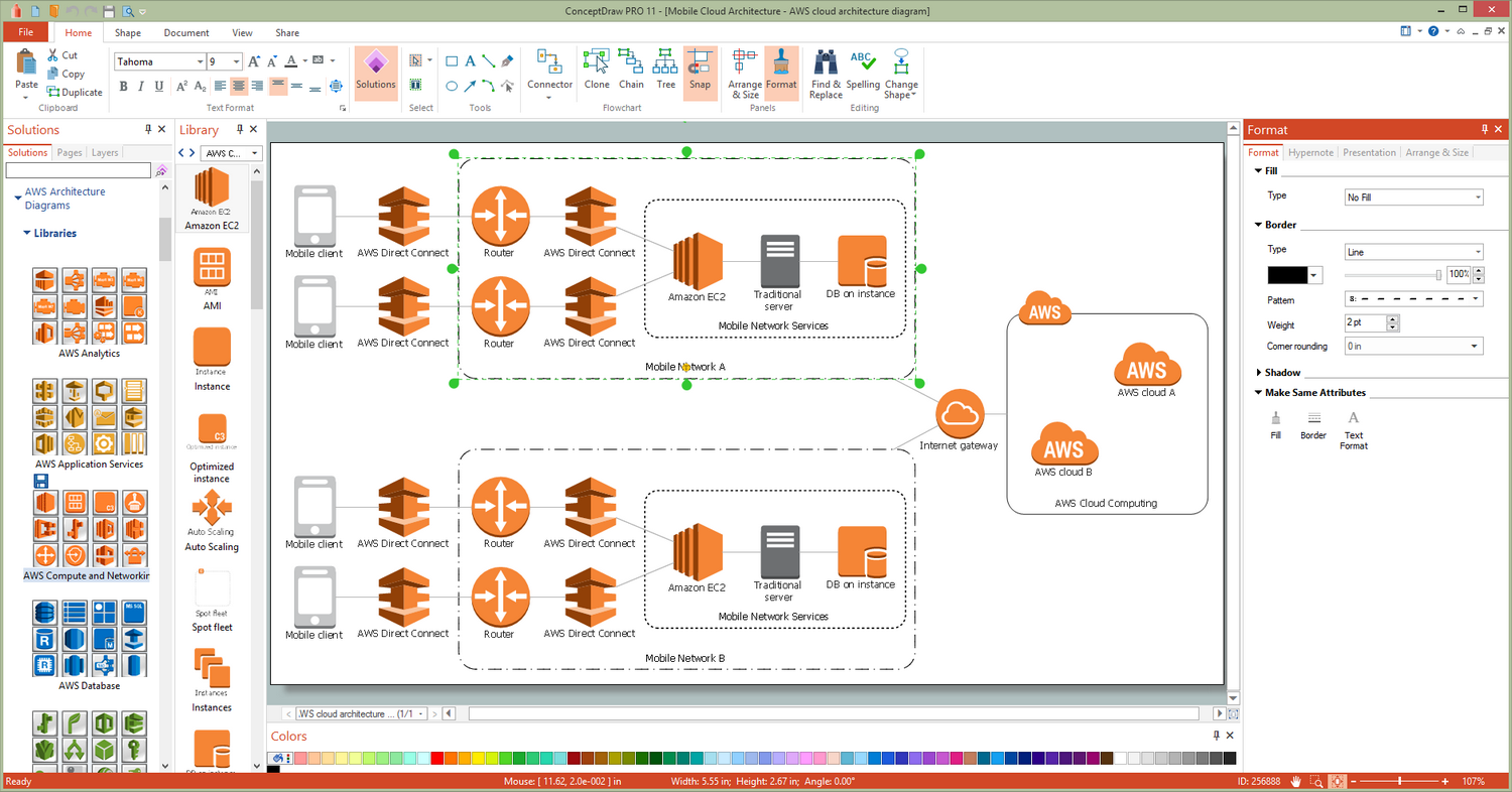 AWS Architecture Diagrams Solution for Microsoft Windows