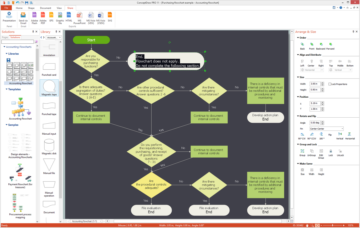 Accounting Flowcharts solution for Microsoft Windows