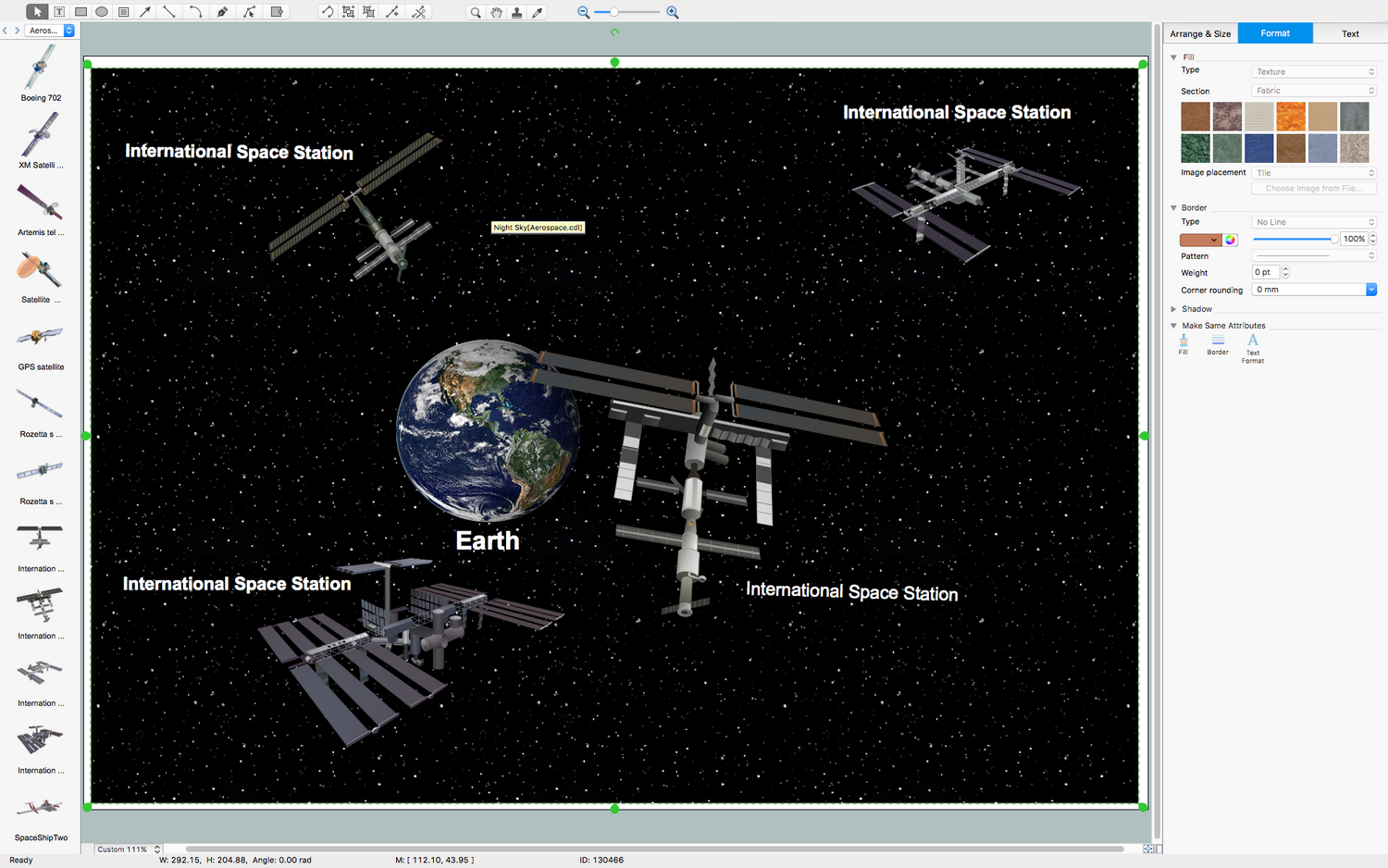 Aerospace and Transport Illustration solution for macOS X