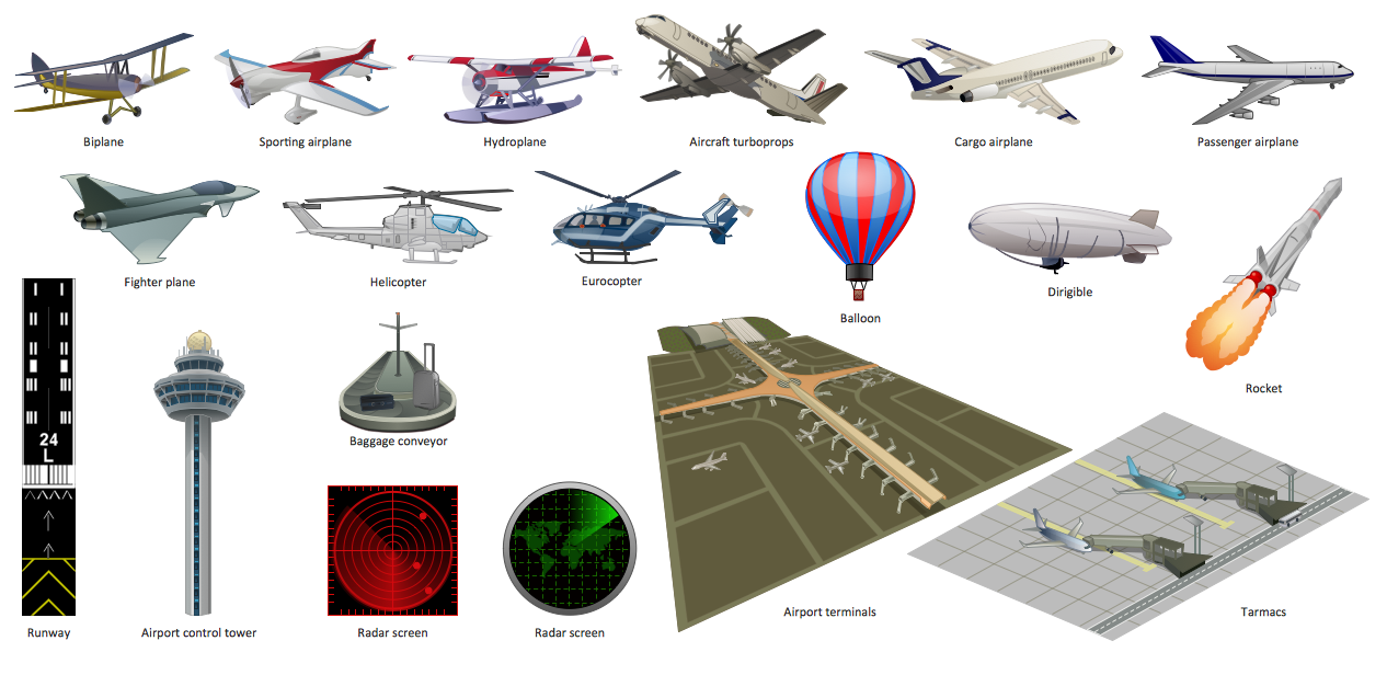 Aerospace And Transport Illustrations Solution