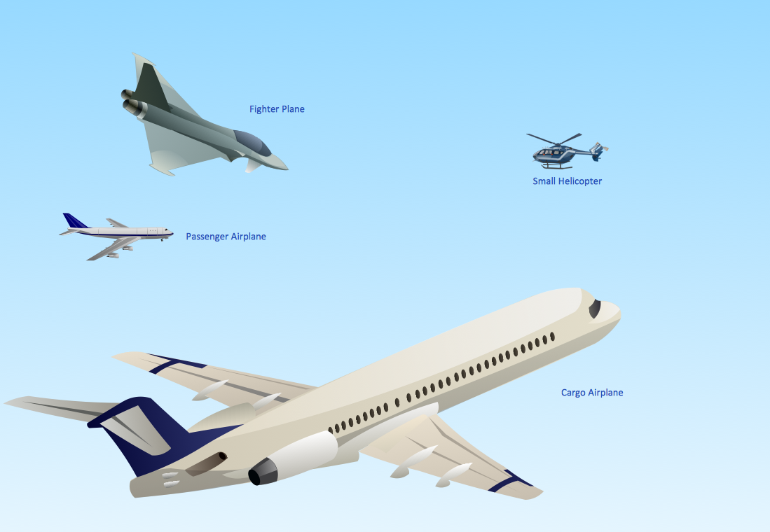 Aerospace Illustration. Aircraft Examples