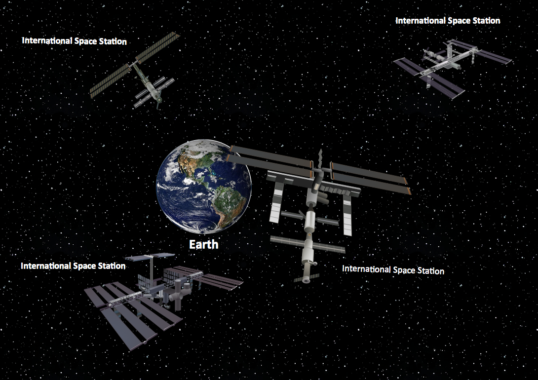 Transport Example. International Space Station Clipart