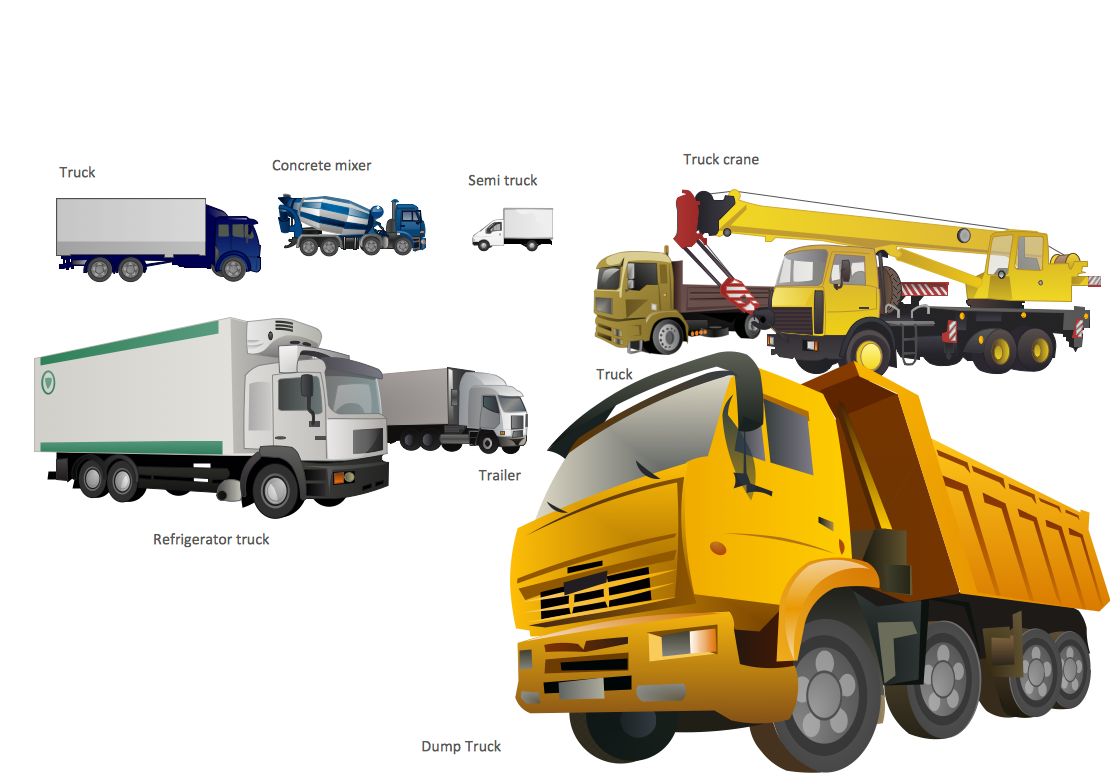 Transport Example. Truck Vehicle Clipart