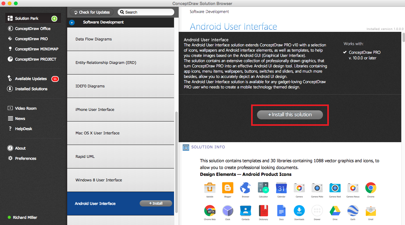 Android User Interface Solution - Install