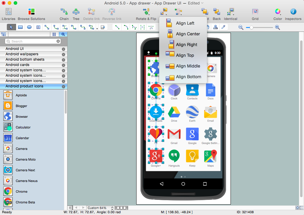Android User Interface Solution for Mac OS X