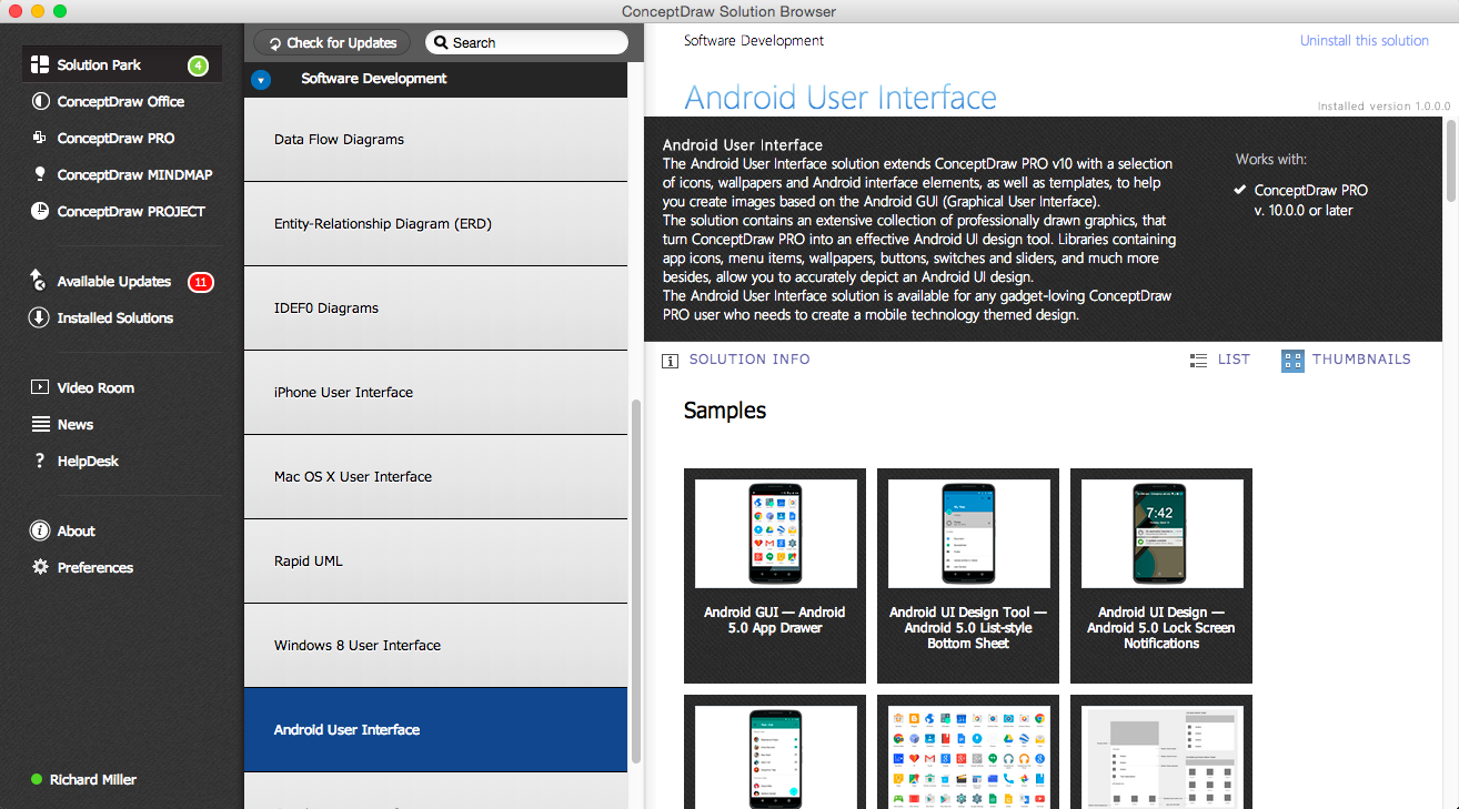 Android User Interface Solution - Start Using