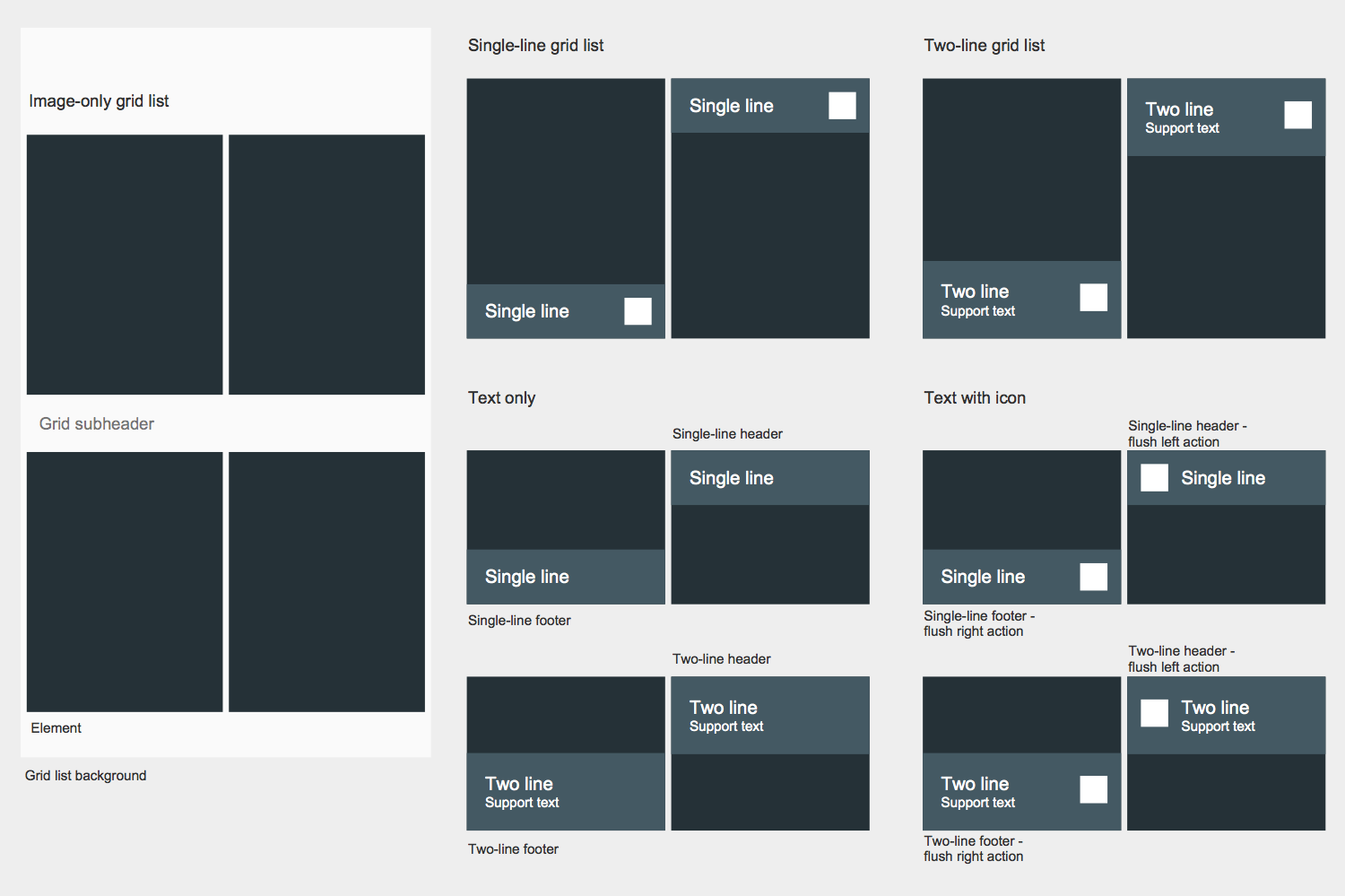 Design Elements — Android Grids
