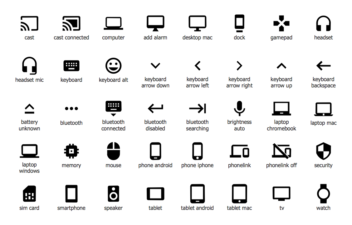 Design Elements — Android System Icons (hardware)
