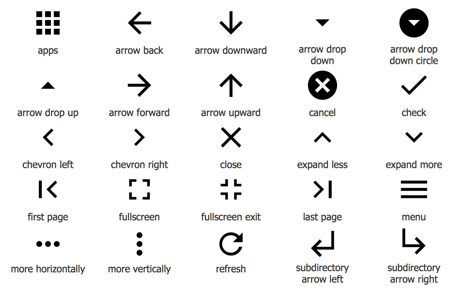 Design Elements — Android system icons (navigation)