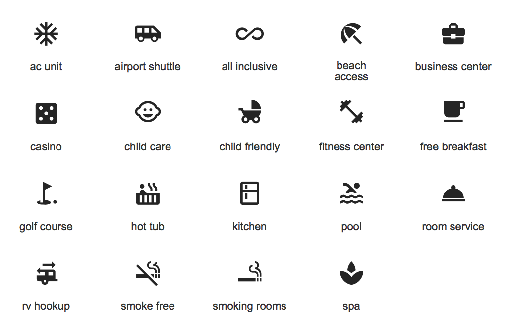 Design Elements — Android system icons (places)