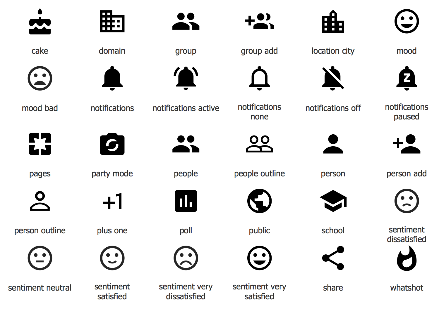 Design Elements — Android system icons (social)