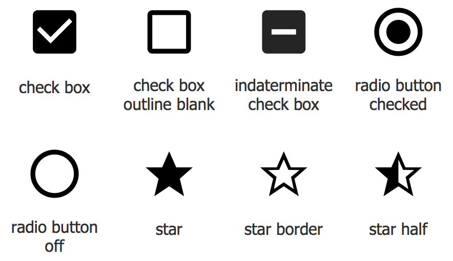 Design Elements — Android system icons (toggle)