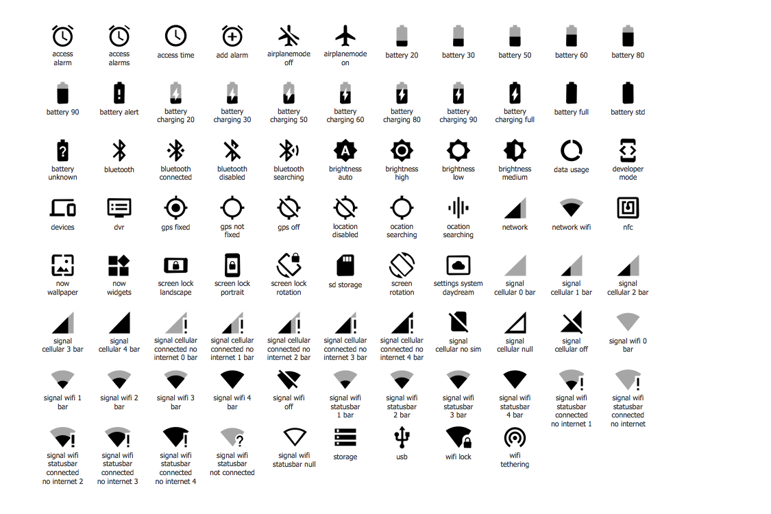 Design Elements — Android System Icons (device)