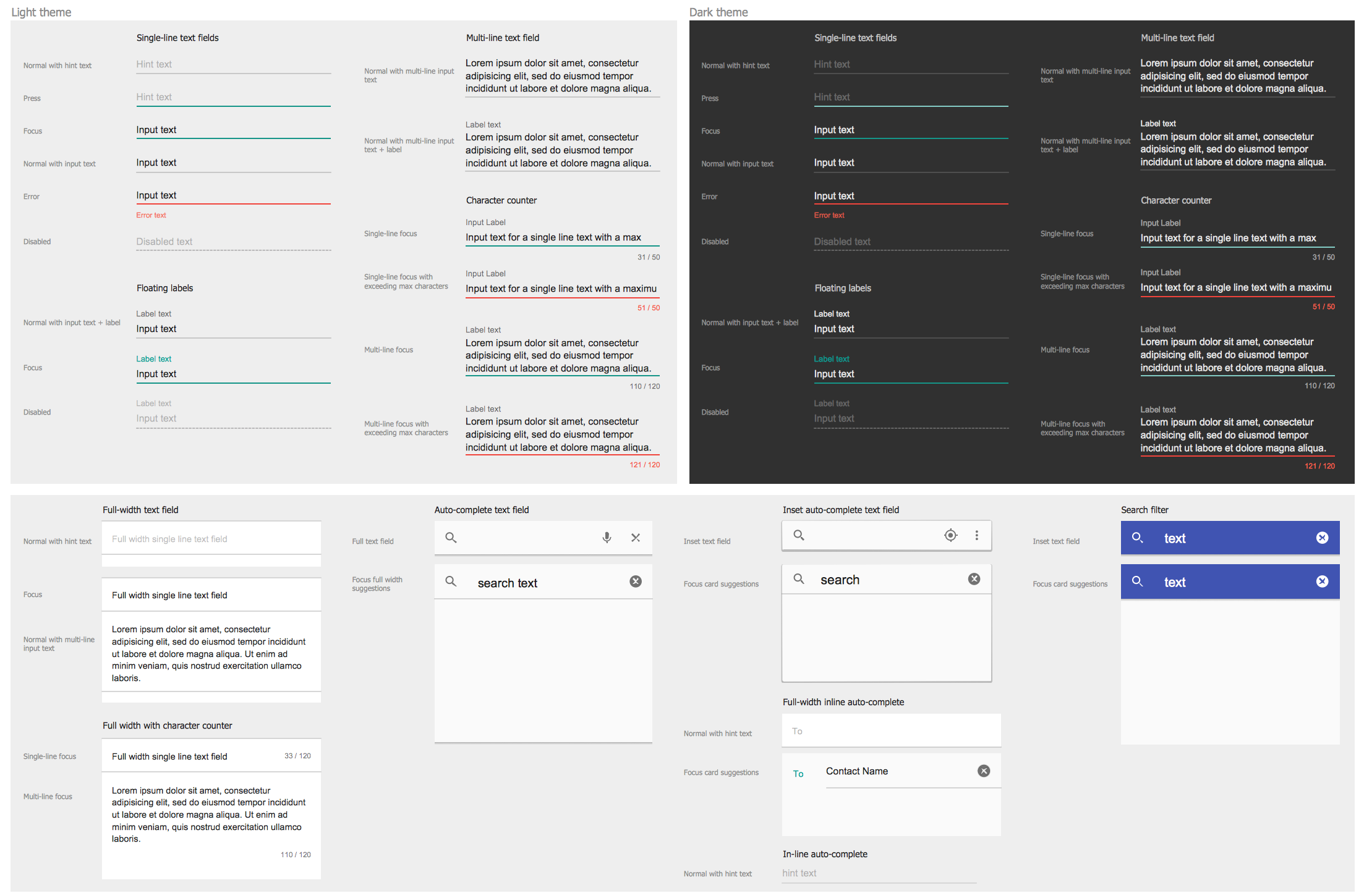 Design Elements — Android Text Fields
