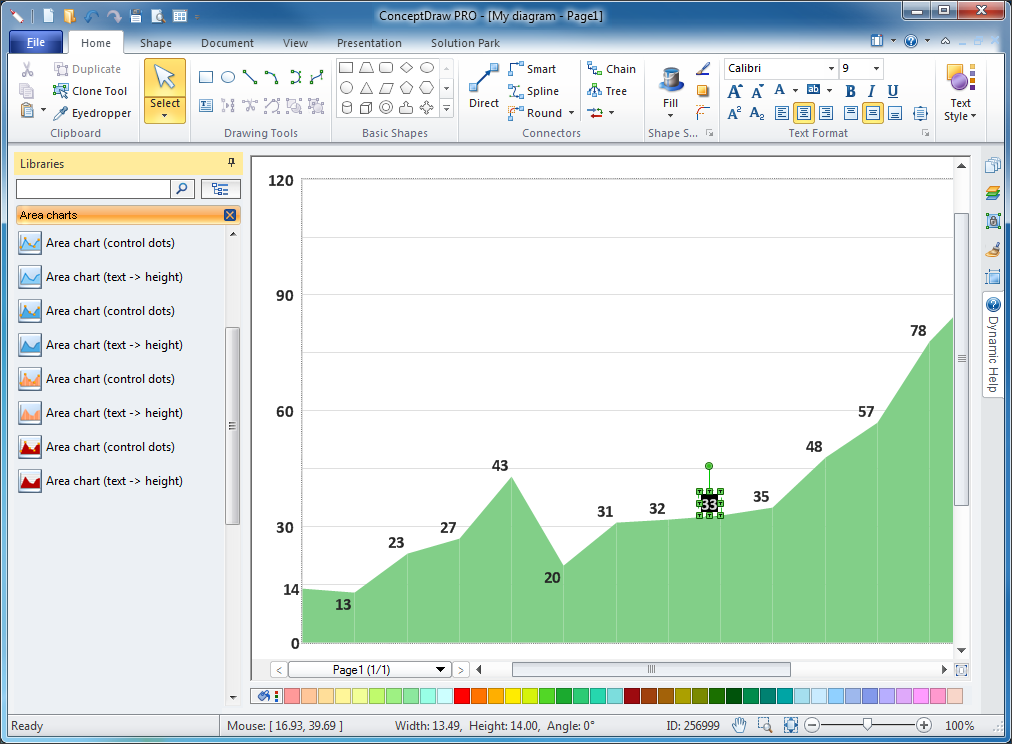 Basic Area Charts Solution for Microsoft Windows