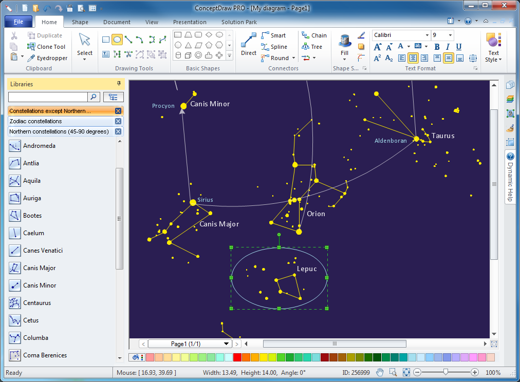 Astronomy Solution   ConceptDraw.com