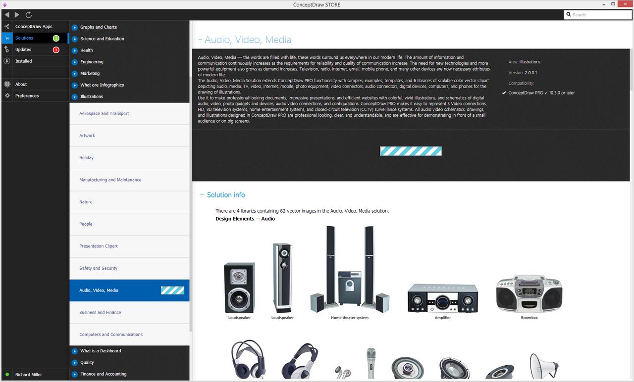Audio  Video  Media Solution   ConceptDraw
