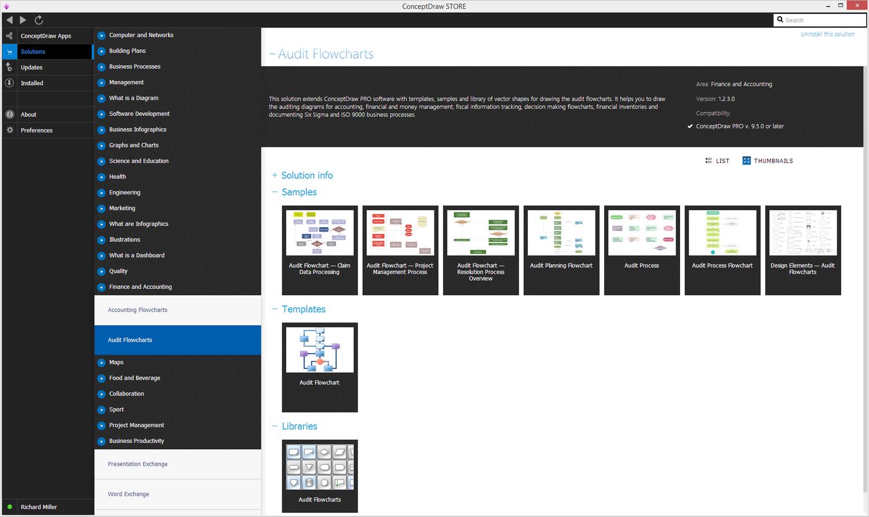 Audit Flowcharts solution - Start Using