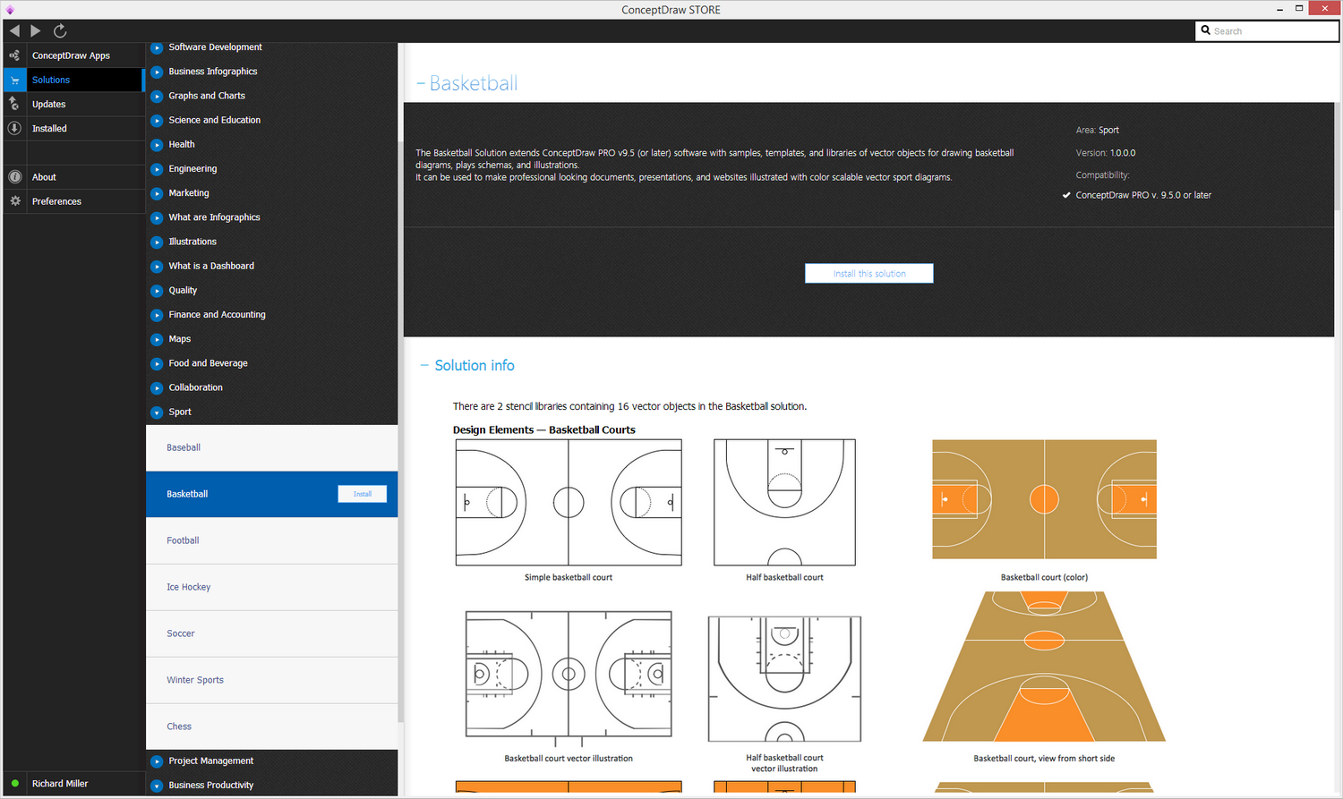 Basketball solution - Install