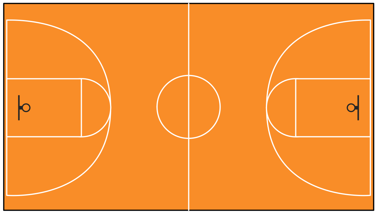 Basketball Court Template