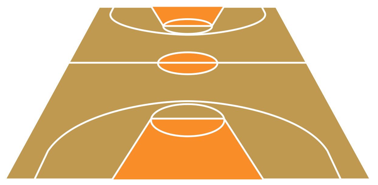 Basketball Court – Short Side View