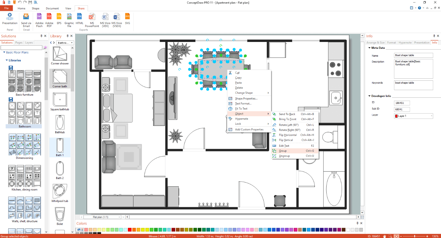 Office Floor Plan App: Basic Floor Plans Solution