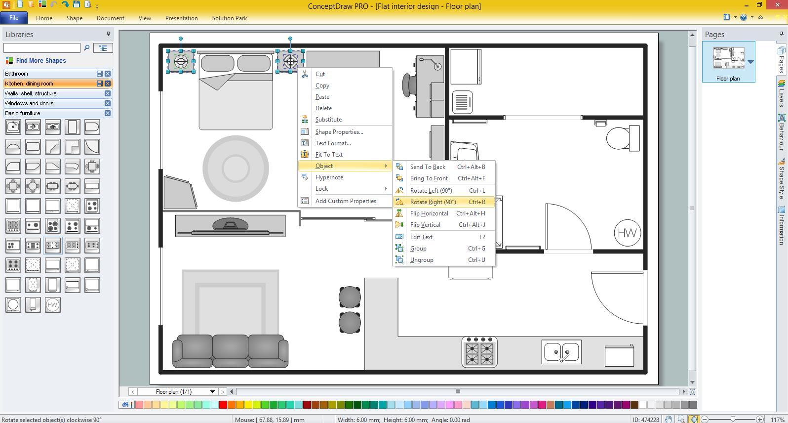 Basic Floor Plans Solution for Microsoft Windows