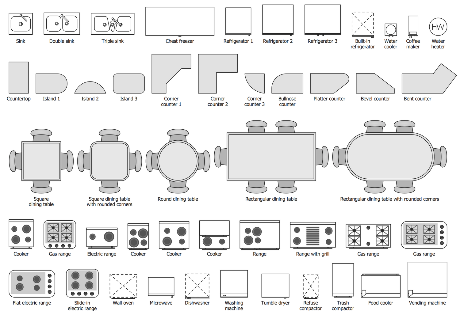 home design elements basic floor plans solution conceptdraw 12115