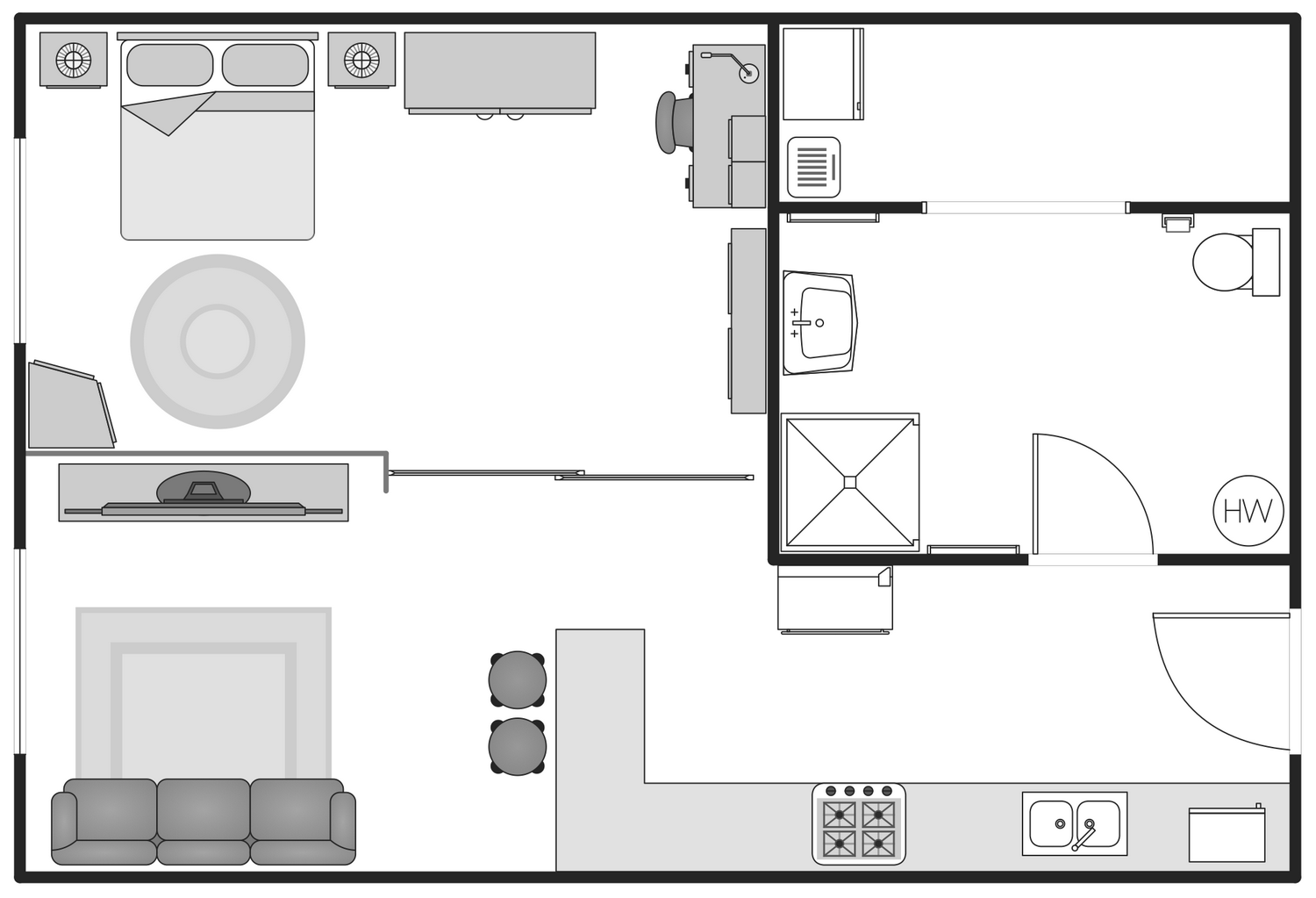Basic floor plans solution for Interior design floor plan