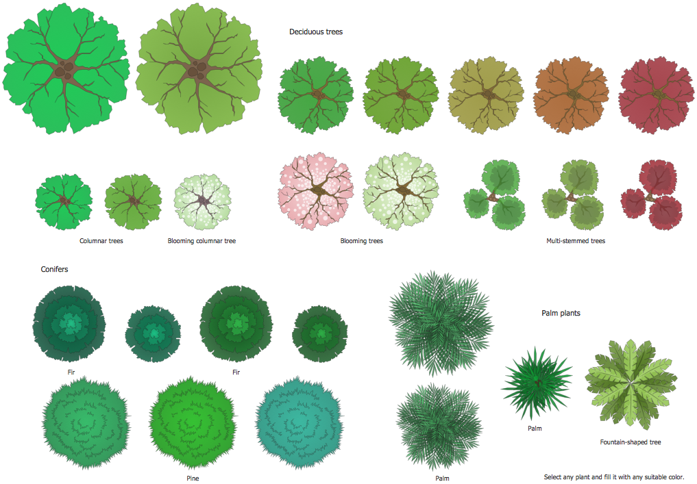 In Design Elements : Landscape garden solution conceptdraw