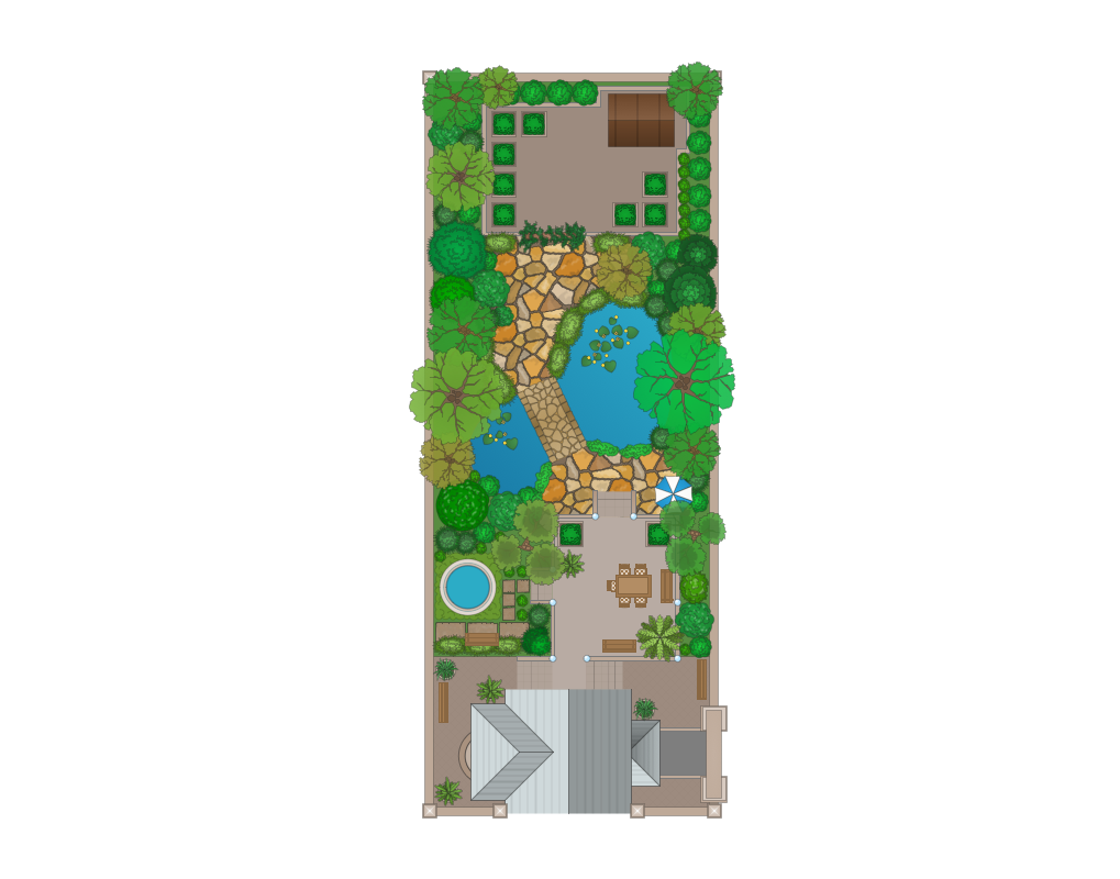 Landscape garden solution for Terrace garden meaning